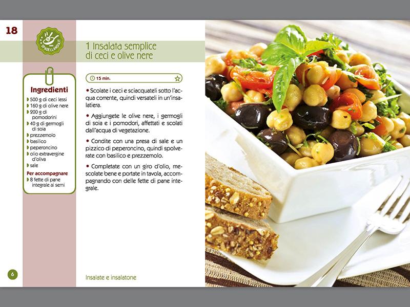 Insalata semplice di ceci e olive nere
